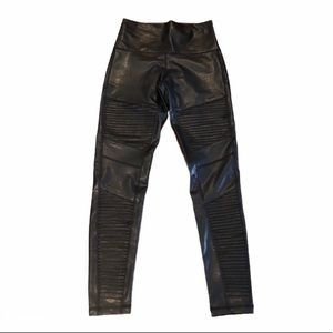 NWT 7 for all mankind pleather motto legging small
